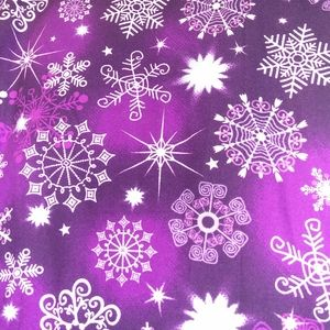Purple snowflake leggings